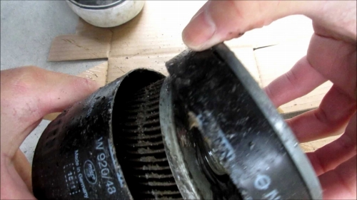 Inside the oil filter (5)