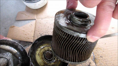 Inside the oil filter (8)